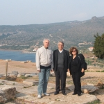 With Costas Dimitracopuolos and his wife near Posseidon Temple, Athens, Greece, 2006