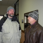 With Andrey Morozov at a Humboldt Club Meeting, Baikal, Russia, 2005