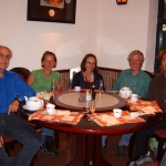 With Margarita Korovina, Maria Spreen, Dieter Spreen and Luoshan Xu at a Chinease restaurant, Koeln, Germany, 2005