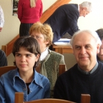 With Sveta at a Humboldt Meeting, Baikal, Russia, 2005
